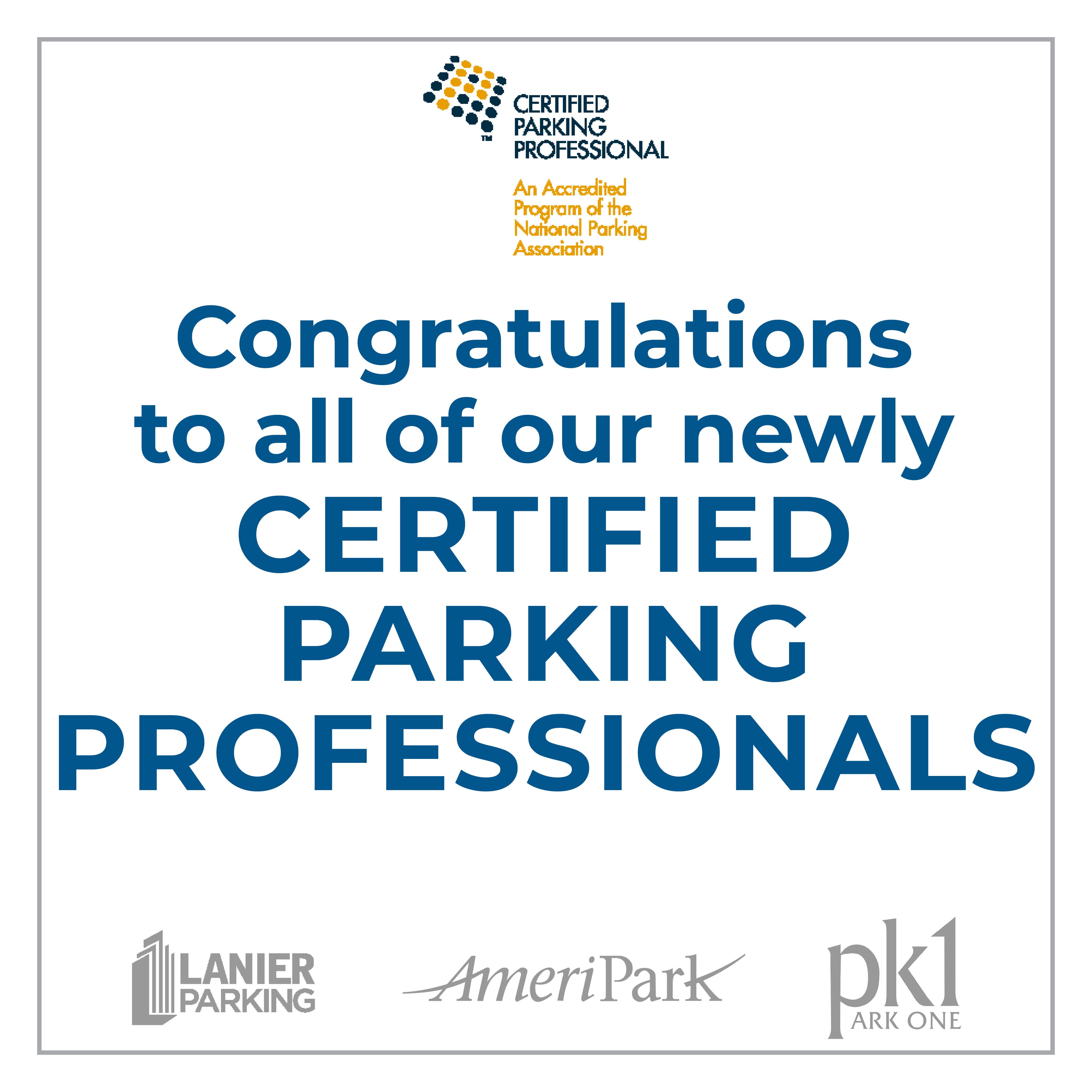 Citizens Parking Invests in the Professional Development of its Management Personnel
